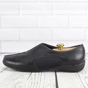 Munro American Black Leather Loafer Shoes Size 12